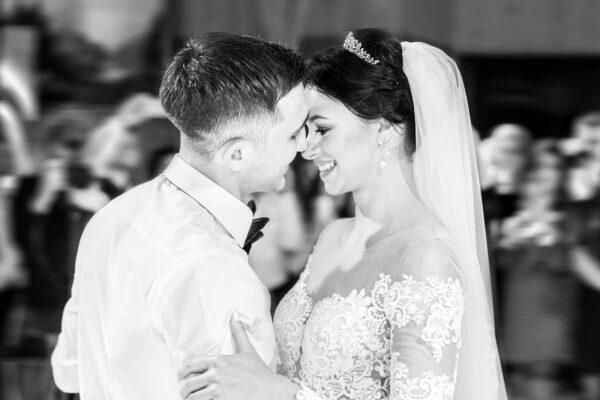 First dance of beautiful wedding couple